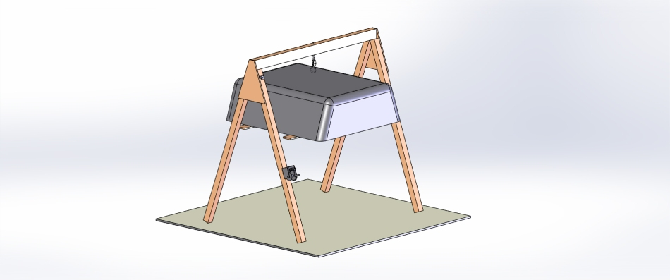 3D Model of upcoming truck canopy removal device