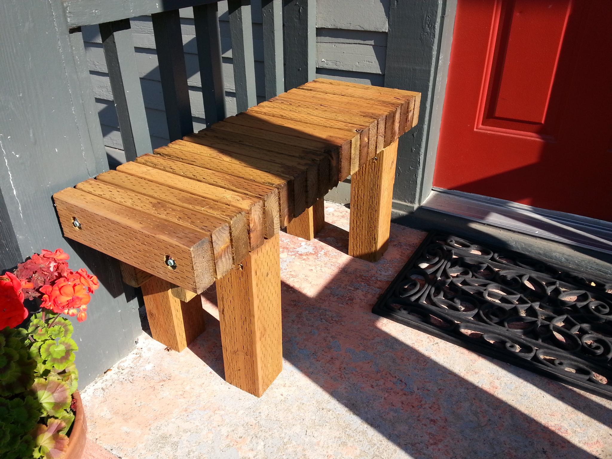 Narrow Backless Outdoor Bench 171 Brwarrickengineering