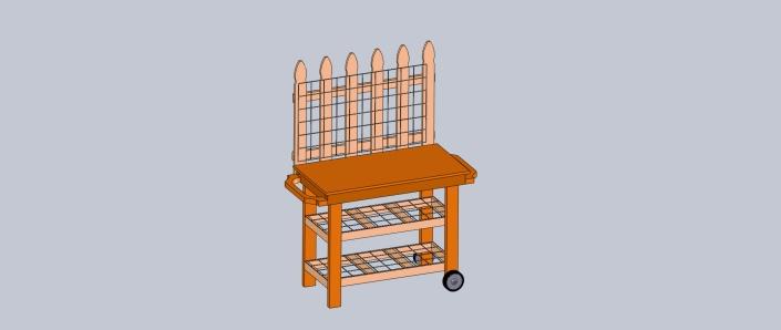 potting cart top assy
